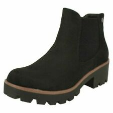 Ladies Rieker Block Heel Ankle Boots 99284