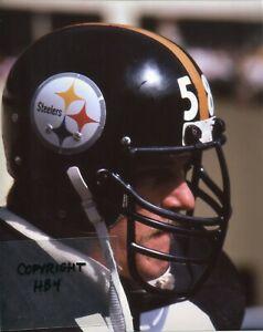 JACK LAMBERT photo in action Pittsburgh Steelers HOF Oct 1983 (c) Super Bowl 4x