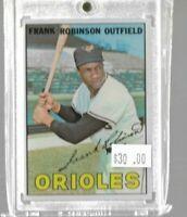 Frank Robinson 1967 Topps baseball card - Orioles