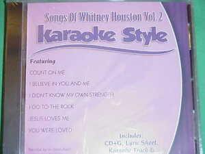 Whitney Houston Volume #2  Daywind  Karaoke Style  CD+G  Karaoke  NEW  6 Songs