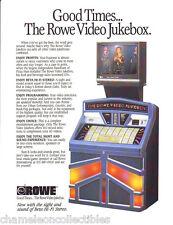 Rowe AMI VIDEO JUKEBOX 1984 Original NOS Jukebox Phonograph Music Sales FLYER