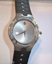ONE OF A KIND! MENS STAINLESS DIAMOND MOVADO SE SPORTS EDITION CUSTOM BEZEL