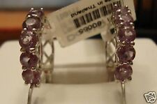 NEW 1.9cts Round Cut Amethyst Earrings .925 SS