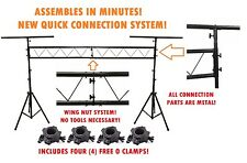 Pro Audio DJ Portable Light Lighting Fixture T Bar Stands 10Ft Truss Package new