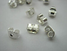 100 Earring Butterfly Backs Nuts Stoppers (50 Pairs) Earring Components Findings
