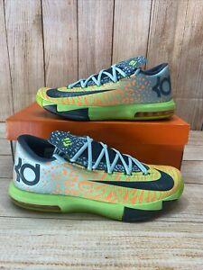 Nike KD 6 Liger Basketball Shoes 599424-302 US Men's Size 10.5