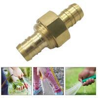 "5/8"" Brass Garden Water Hose Mender End Repair Male Connector Female B1V7"