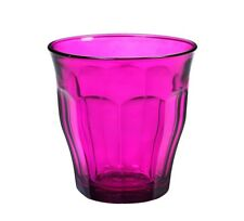 Duralex - Picardie Colored Tumbler Purple Drinking Glass, 8 3/4 oz. Set of 6