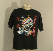 New listing Vtg Black Hong Kong Dragon Chinese Souvenir Short Sleeve Tee T-Shirt Xl