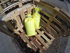 (10) POLYPROPYLENE SACKS BUILDERS RUBBLE SAND BAGS (HI VIZ COLOUR)