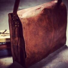 Handmade New Men's Real Vintage Leather Messenger Laptop Briefcase Satchel  Bag