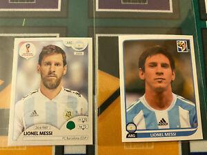 2010 2018 Panini World Cup Sticker Argentine Barcelona Lionel Messi Lot2