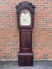 More details for antique large 18th century 8 day moon phase longcase clock j.a cawson liverpool