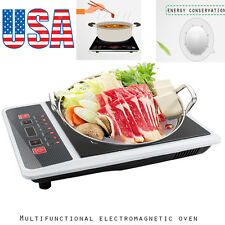 US Portable Digital Electric Induction Cooktop Countertop Burner Cook Top 2000W