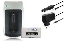 Baterìa + Cargador CR-V3 CRV3 para Samsung Digimax A5, A6 / S1000 / V5000