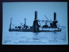 POSTCARD RP WWII SPUD' PIERHEAD OFF ARROMANCHES FRANCE D-DAY 1944