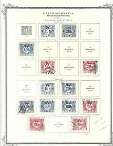 SLOVAKIA...BOB...#J2//J23...Mint & Used...1939/41...13 Diff...SCV $29.85