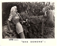 She Demons 1958 original 8x10 lobby card Irish McCalla looks at snake in jungle