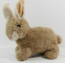 """Ty 1997 Classic Bunny Rabbit Buttons Plush Beanie 10"""" Brown Fuzzy Easter"""