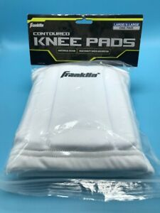 Franklin Knee Pads Contoured Shock Absorption Size Large/X-Large White New