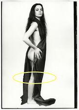 23x17cm Orig Archiv Foto Frau Nackt Stoff Akt Model photo