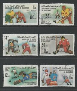 Thematic Stamps Sports - MAURITANIA 1980 WINTER OLYMPICS 635/40 6v used