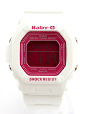 CASIO BABY-G LADY BG5601-7 Pink Square Digital Dial White Resin Band