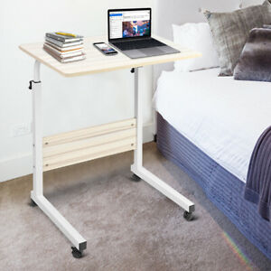 Mobile Notebook Desk Adjustable Laptop Table Trolley Sofa Bed Side Tray Computer