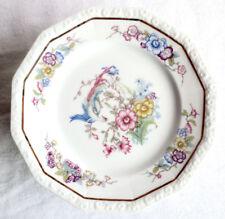 #0925 - Rosenthal Maria Weiß 6 Kuchenteller Blumendekor Porzellan