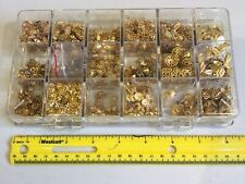 Lot of 1000+ Goldplate Jewelry Findings Bell End Caps & Oval Tags Stamped Discs