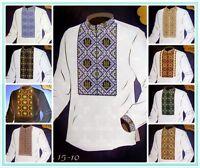 Cross stitch Patterns Mens Shirt Vyshyvanka Ukrainian Traditional Embroidery SM