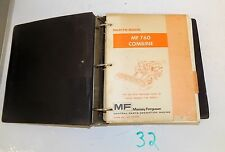 MASSEY FERGUSON MF 760 COMBINE PARTS BOOK CATALOG PRIOR TO S/N 1746 009413 11/78