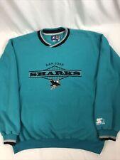 New listing Vintage San Jose Sharks Starter Sweatshirt Size Xl Nhl