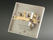MS HD Power Gold Plated UK Mains Wall Socket - Single, 1 Gang, MS9297G. DECO