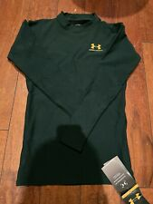 Under Armour Cold Gear Long Sleeve Thermal Top, Green, Size Med