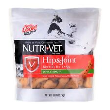 (2 Pack) Nutri-Vet Hip and Joint Peanut Butter Biscuits for Dogs Large 6 pound