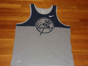 NIKE NEW YORK YANKEES COOPERSTOWN COLLECTION SLEEVELESS T-SHIRT MENS 2XL EXC.