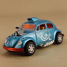 Light Blue Volkswagen Beetle Custom Drag Racer Model Car 1:32 12cm Pull-Back VW