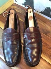 Vintage Brown Leather Penny Loafers Men's 11A