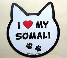 I Love My Somali Cat Refrigerator Car Locker Fun MAGNET Made USA cats