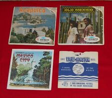 vintage MEXICO VIEW-MASTER REELS LOT Acapulco, Old Mexico, Mexico City + more