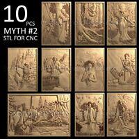 3d stl model cnc router artcam aspire 10 pcs panno collection basrelief myth №2