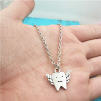 Cute tooth silver Necklace pendants fashion jewelry accessory,creative Gifts