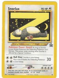 Snorlax Rare Black Star Promo Pokemon Card # 49