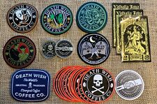New Death Wish Coffee Patches, Coins and Stickers Collection