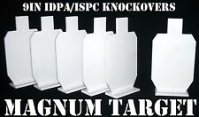 9in. IDPA Knockovers Targets - 3/8in. Thk. Pistol Targets - 6pc Steel Target Set