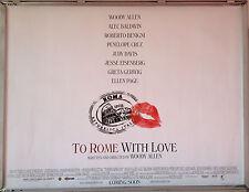 Cinema Poster: TO ROME WITH LOVE 2013 (Quad) Woody Allen Penélope Cruz