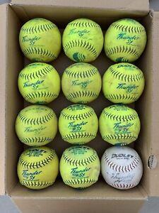 One Dozen 12 Inch Practice Softballs