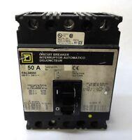 SQUARE D CIRCUIT BREAKER FAL34050, 50AMPS, 3 POLES, 480VAC AC VOLT RATING
