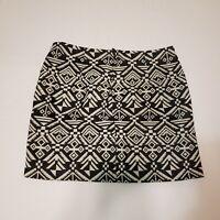nwt Divided hm women's size 8 black white Aline mini skirt